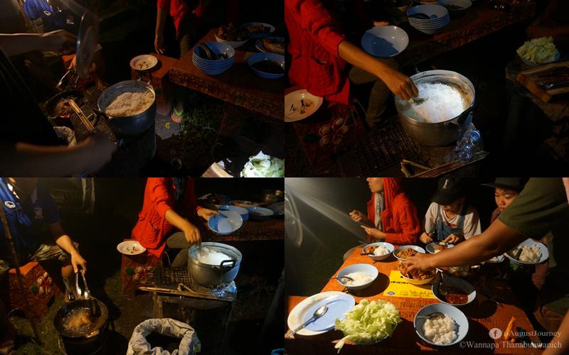 เสร็จแล้วกินได้ สรุปเมนูค่ำคืนนี้คือ หมูย่างน้ำจิ้มแจ๋ว ปลาทอดน้ำปลา ยำแหนม ไข่น้ำ เครื่องดื่ม 55+