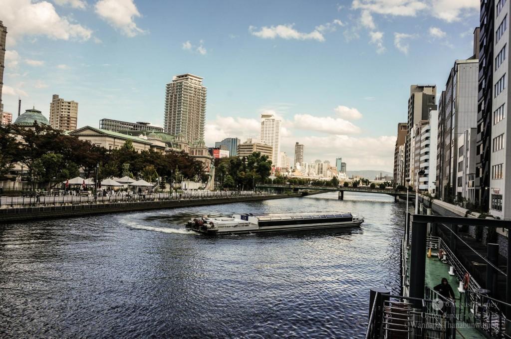 Osaka Suijyo Bus Aqua-Liner (ล่องเรือรอบโอซาก้า)