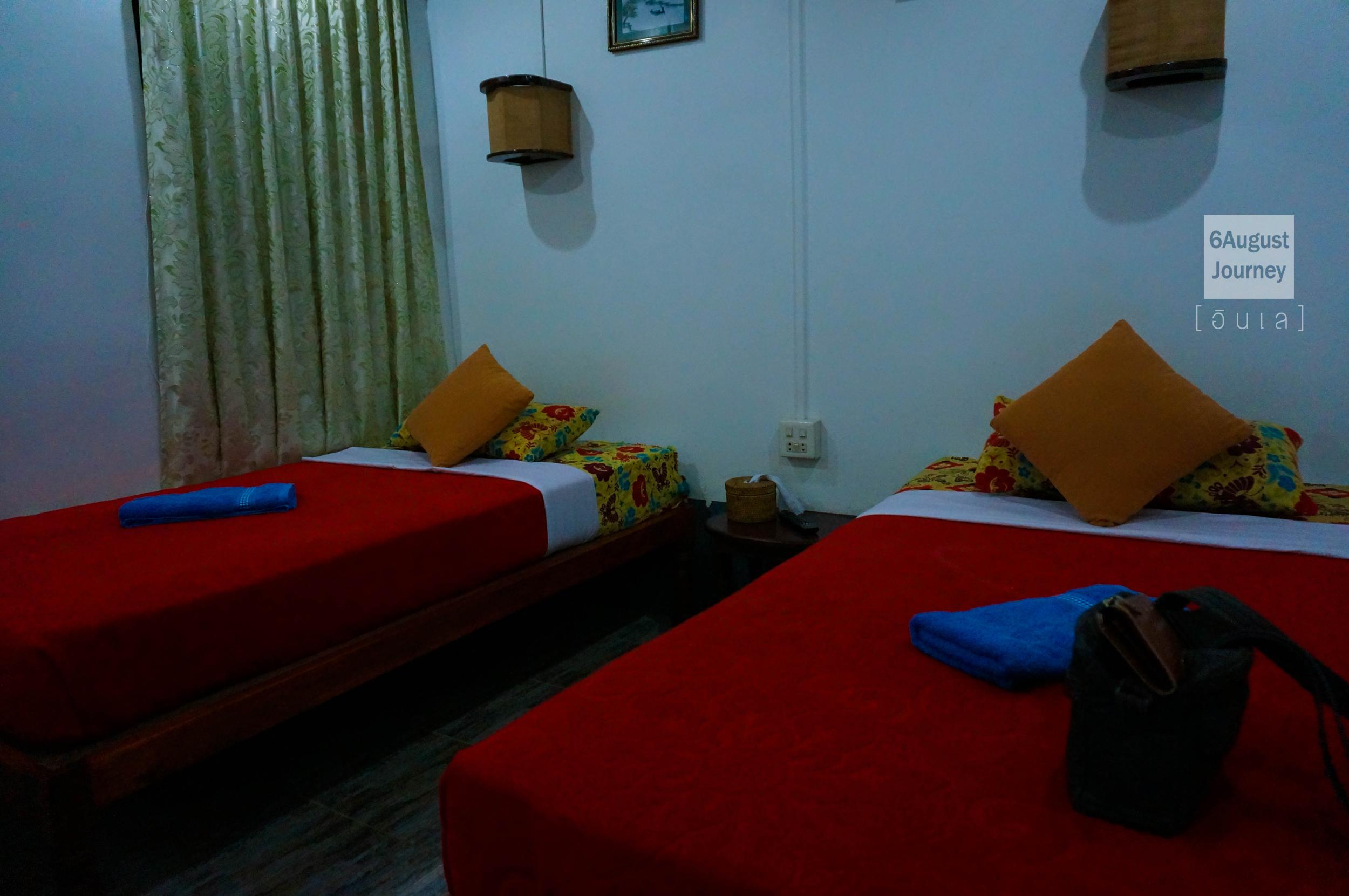 ที่นอนสามารถนอนได้ 2 คนต่อห้อง