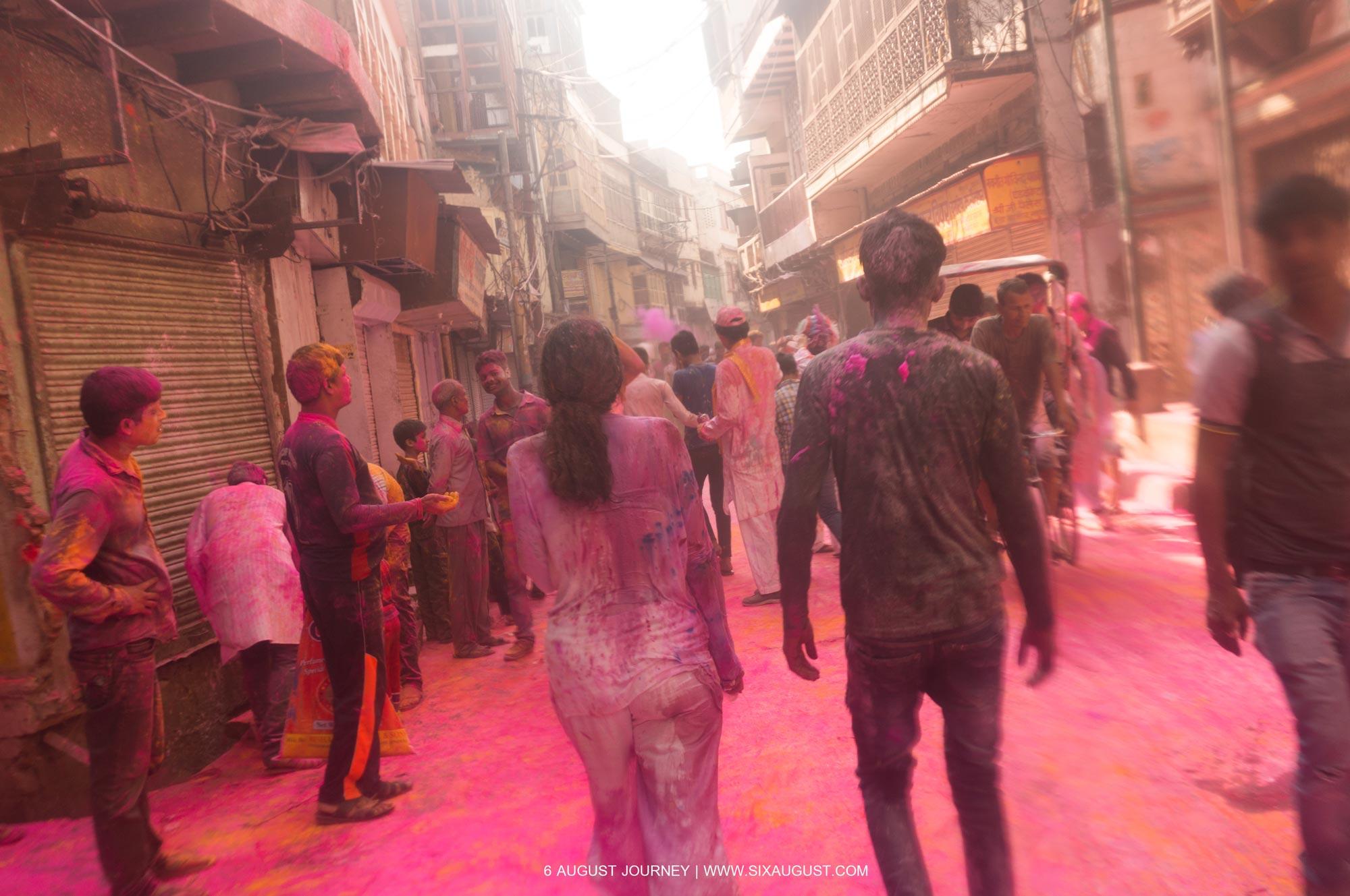 ถนน เทศกาล Holi