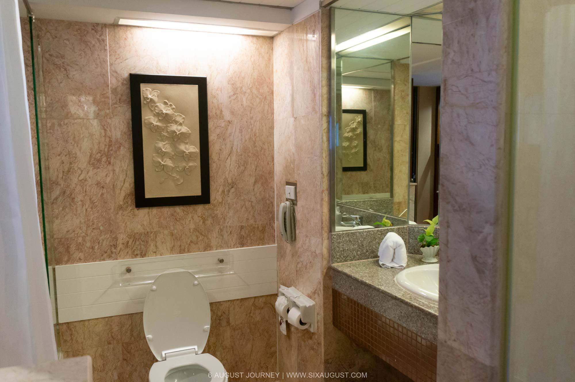 ห้องน้ำ โรงแรมเอเชีย รีวิว