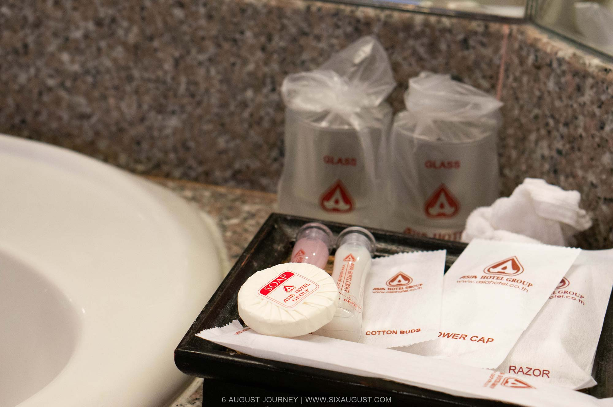 อุปกรณ์อาบน้ำ โรงแรมเอเชีย รีวิว