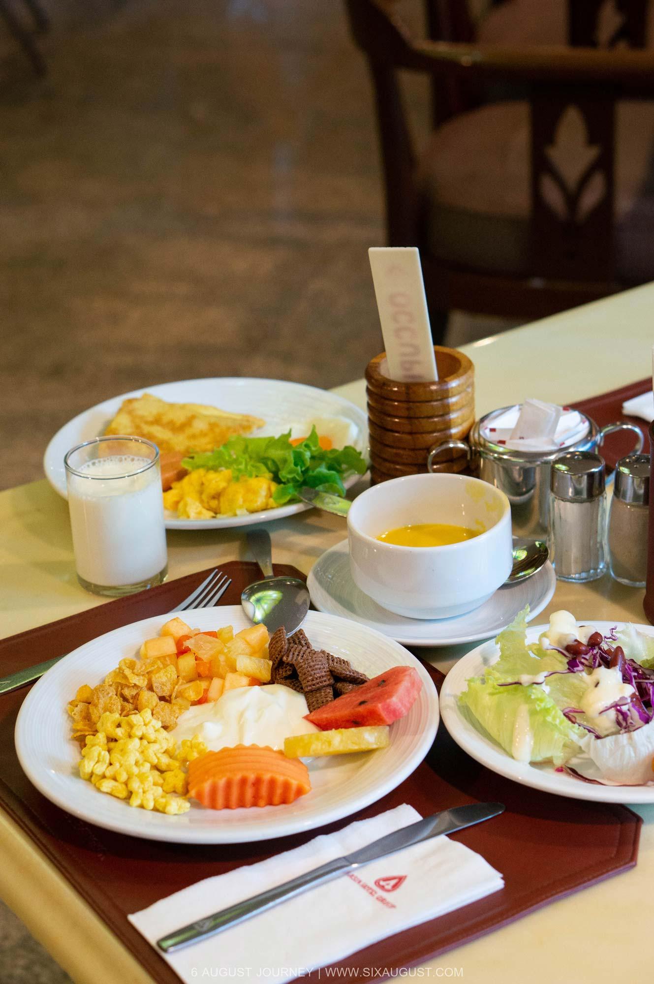 อาหารเช้า โรงแรมเอเชีย รีวิว