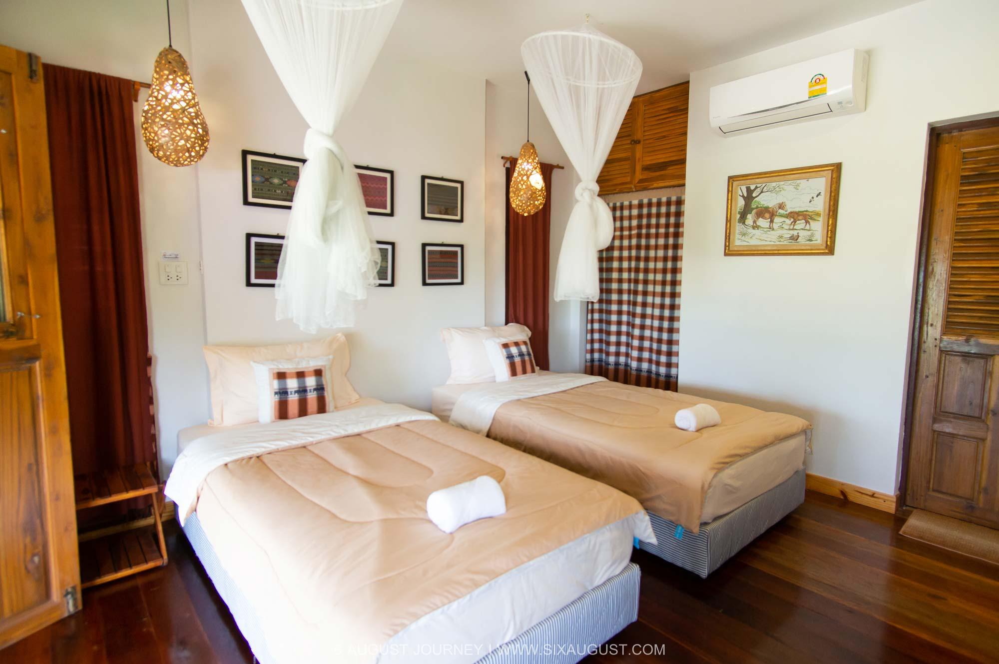 ห้องนอนบ้านดอกมะลิ บ้านสวนในฝัน