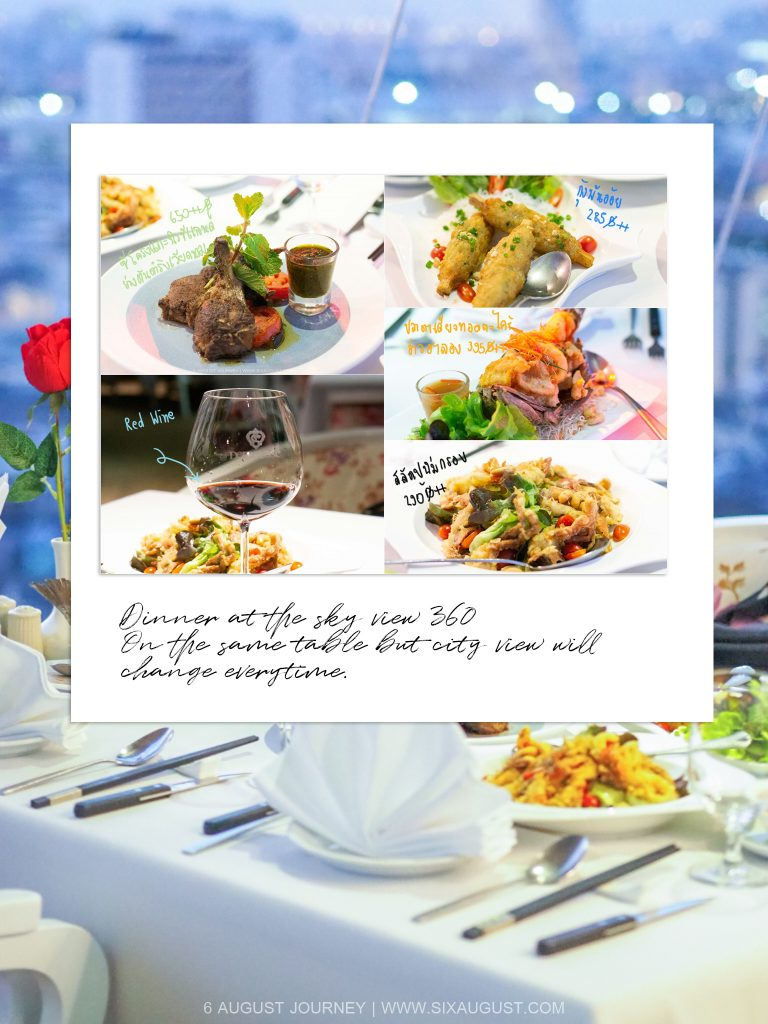 อาหาร รีวิว The Sky View 360