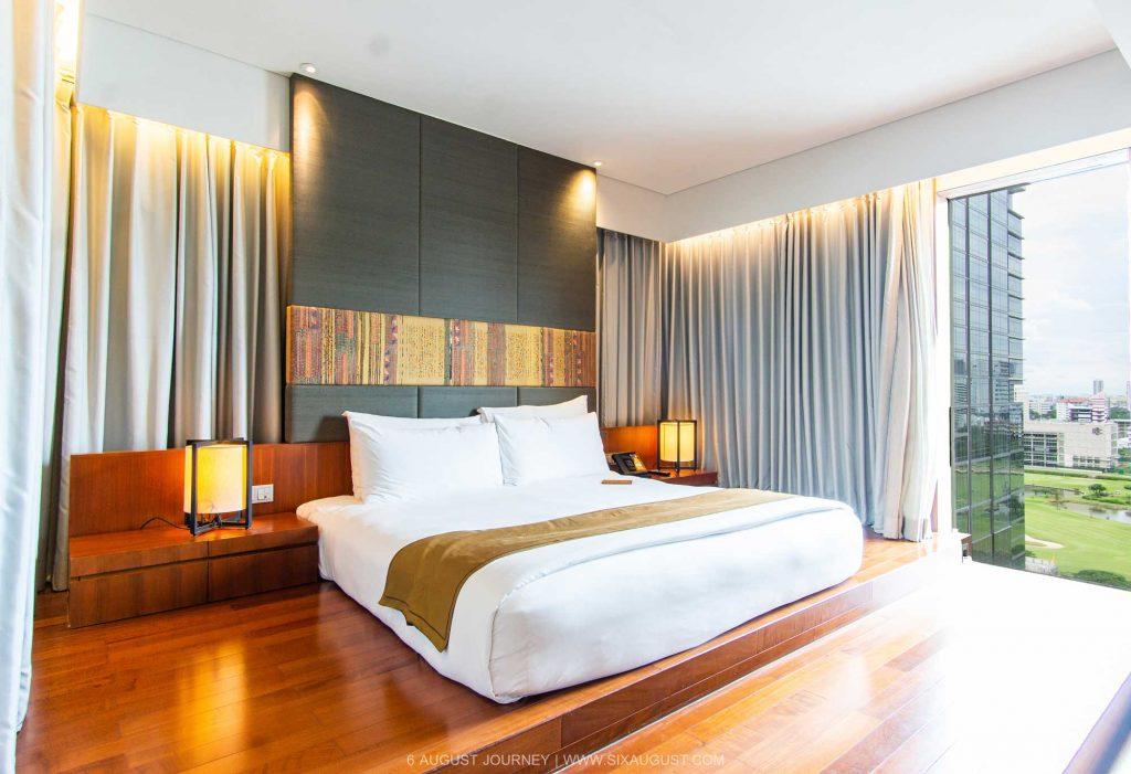 ห้องนอน Hansar Bangkok Hotel รีวิว